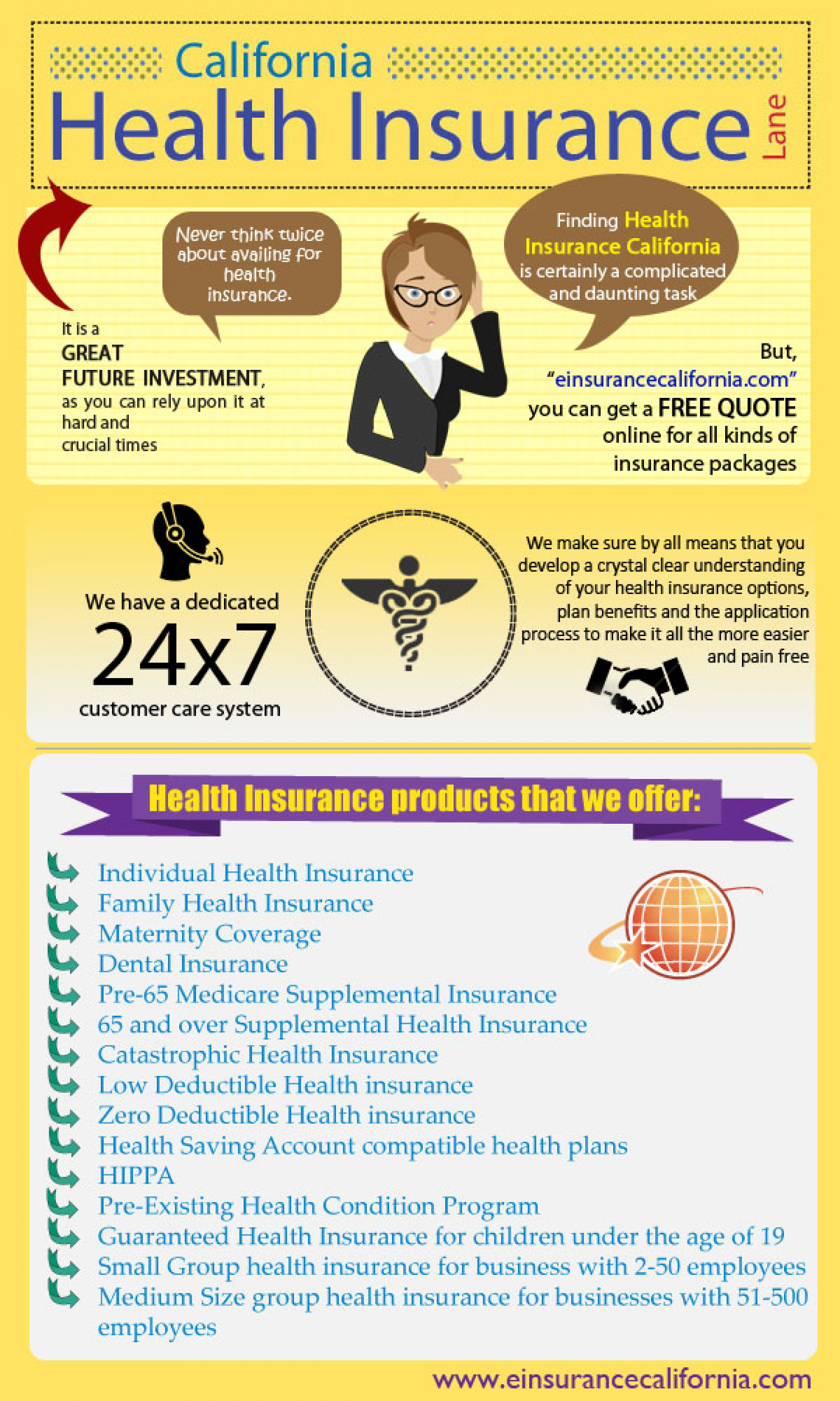 Health Insurance California Infographic