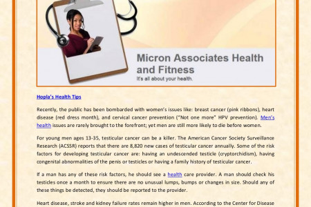 Health News Micron & Associates Hong Kong Blog: Men's Health — A Forgotten Group? Infographic