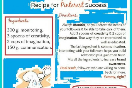 Healthy and Tasty Recipe for Pinterest Success Infographic