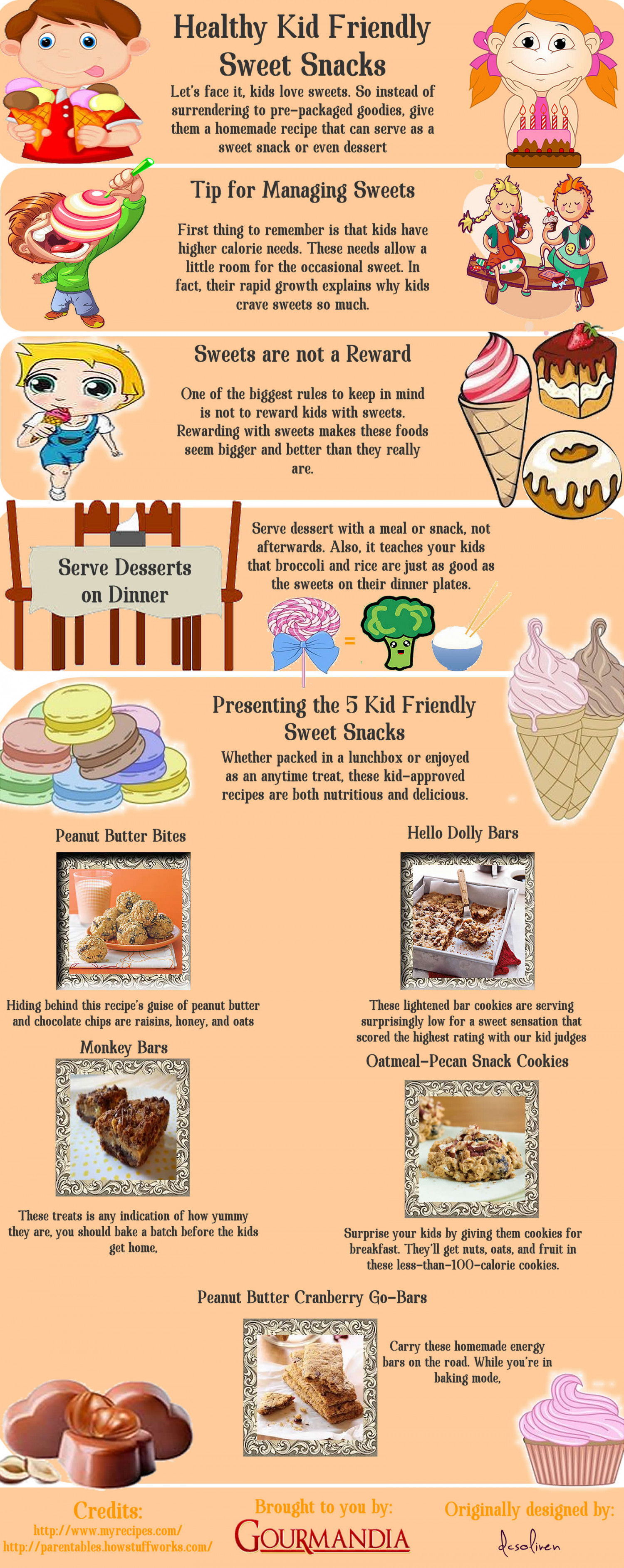 Healthy Kid-Friendly Sweet Snacks Infographic