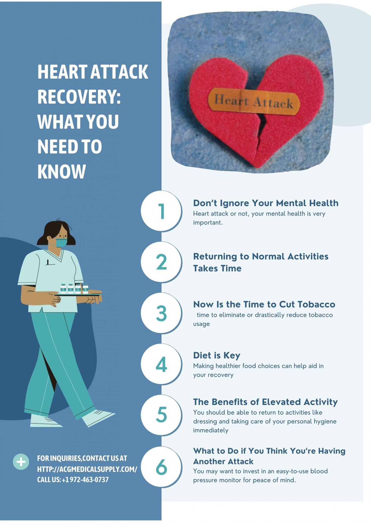 Heart Attack Recovery: What You Need to Know Infographic