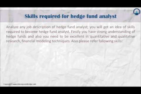 Hedge Fund Analyst Infographic
