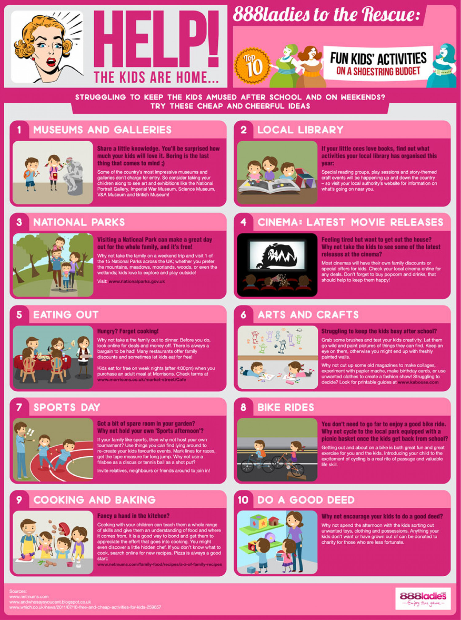 Help! The Kids Are At Home... Infographic