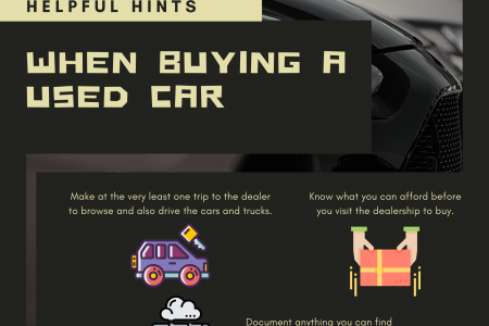 Helpful Hints When Buying A Used Car Infographic