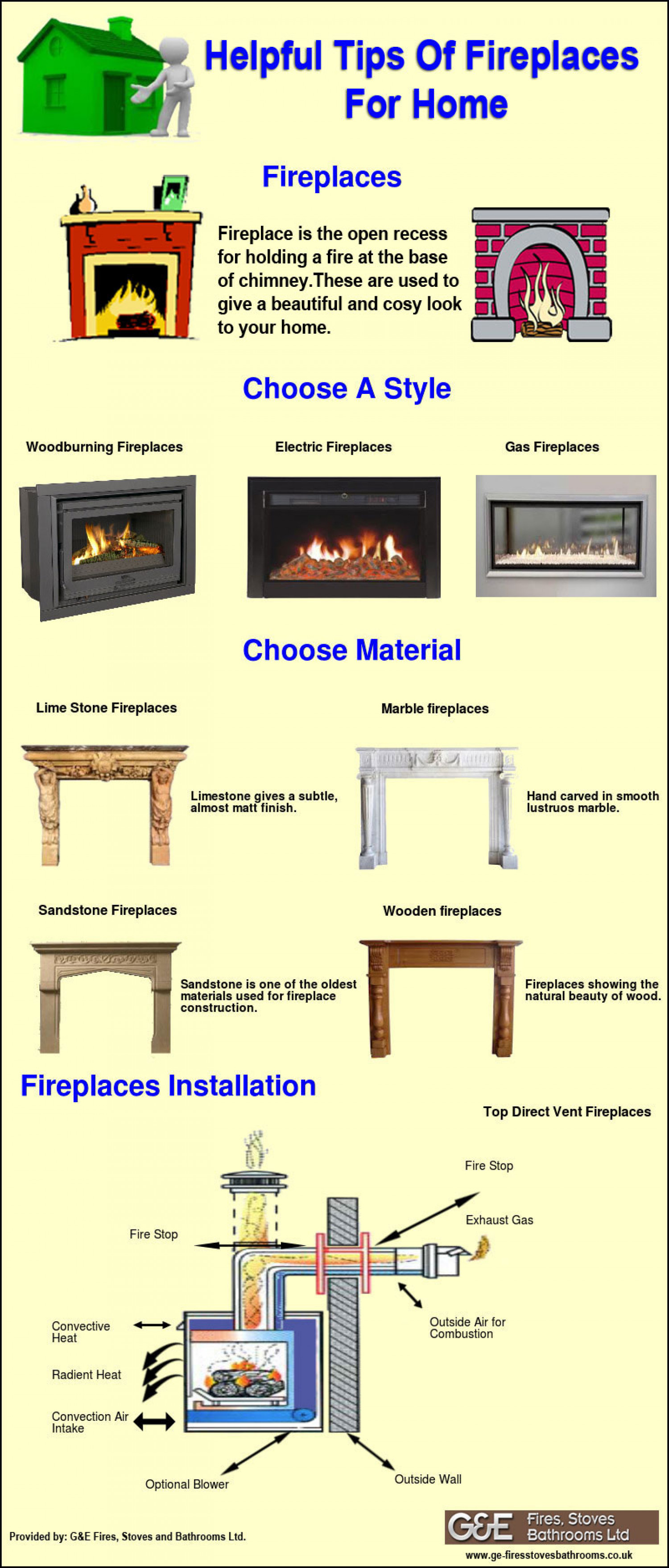 Helpful Tips of Fireplaces for Home Infographic