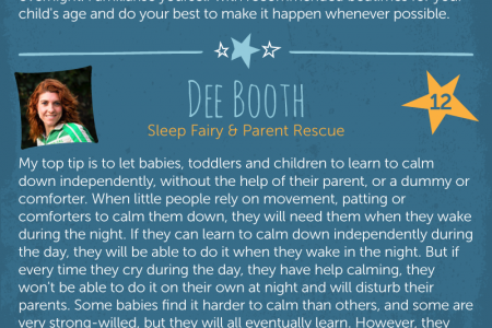 Helping Your Child Get A Great Night's Sleep Infographic