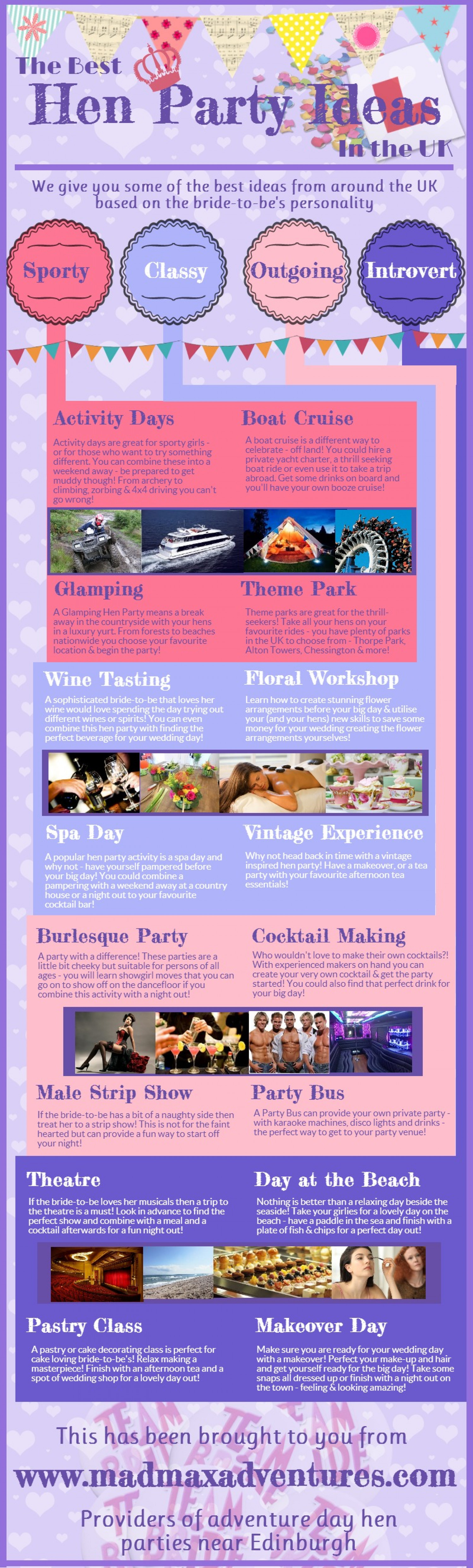 Hen Party Ideas in the UK Infographic