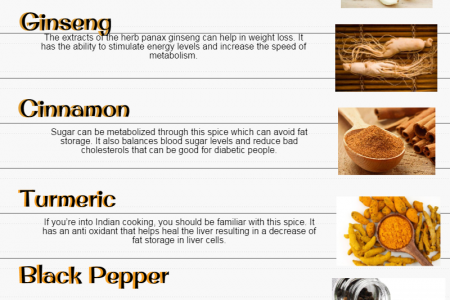 Herbs and Spices that Will Help You Lose Weight! Infographic