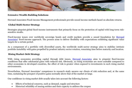 Herrand Associates Wealth Management Singapore, Tokyo Japan on Fixed Income Infographic