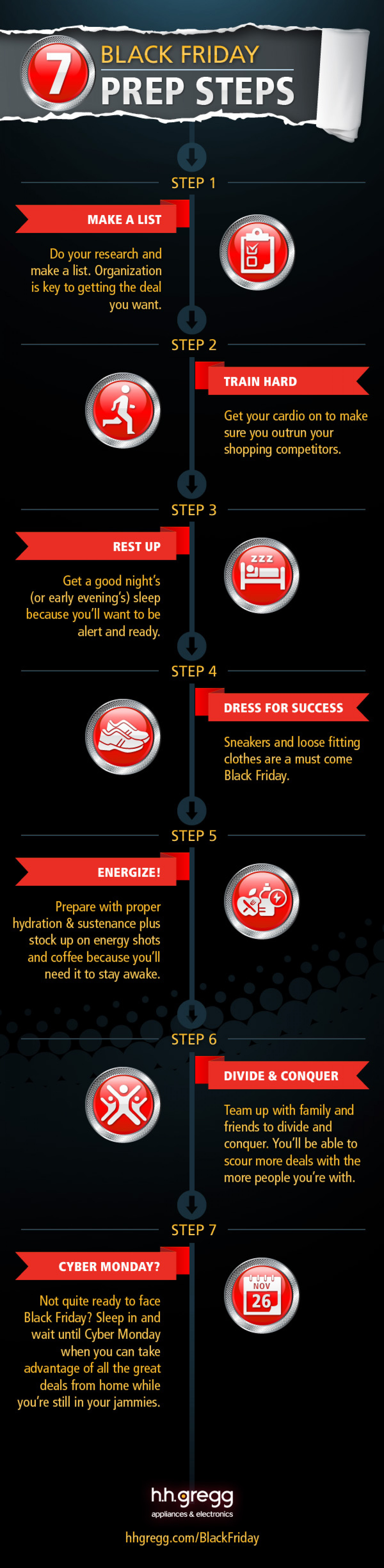 hhgregg Black Friday Instructographic Infographic