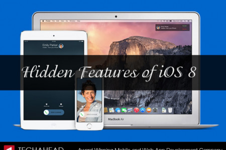 Hidden features of iOS 8 Infographic