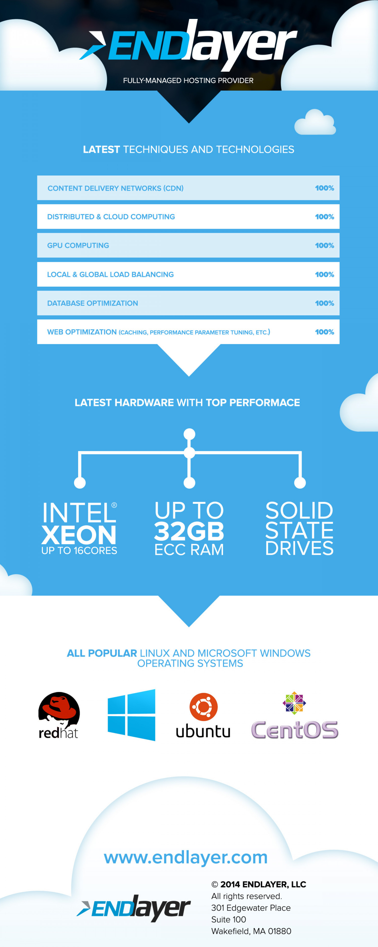 High Performance Hosting: Techniques & Technologies Infographic