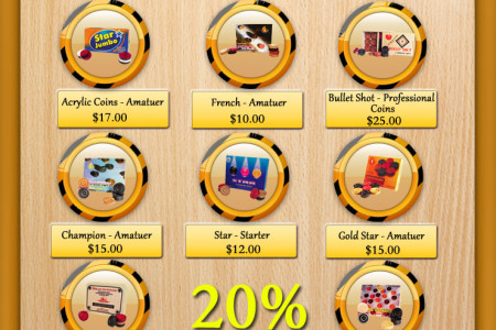 High Quality Carrom Coins at 20% OFF Infographic