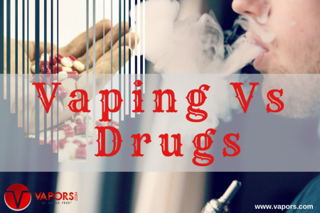Highly Addictive Drugs vs Nicotine Consumption Withe Vaping and E-Juices! Infographic