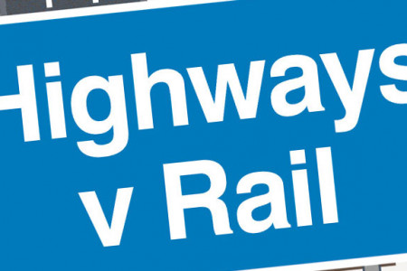 Highways Vs Rail Infographic