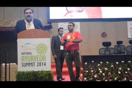 Himanshu sampat speech at vibrant Gujarat Infographic