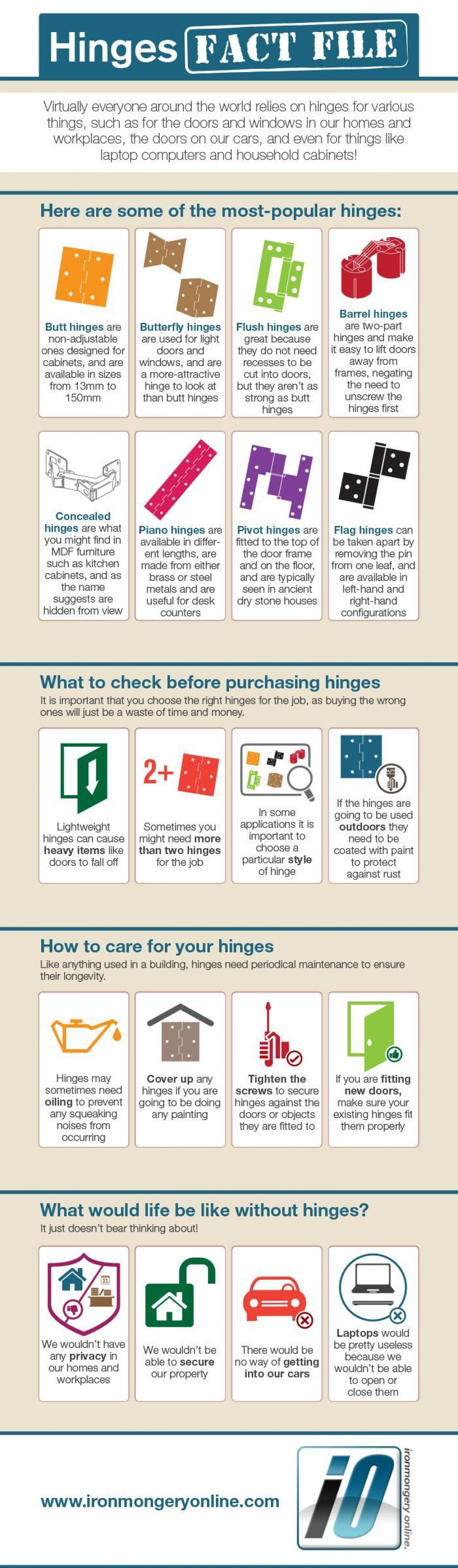 Hinges Fact File Infographic