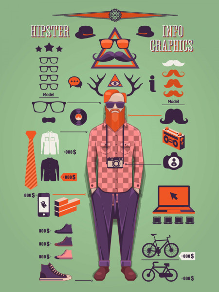 Hipster info graphic Infographic