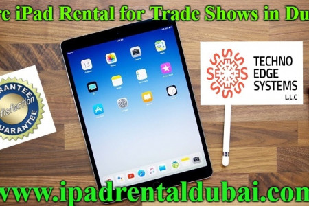 Hire iPad Rental for Trade Shows in Dubai Infographic