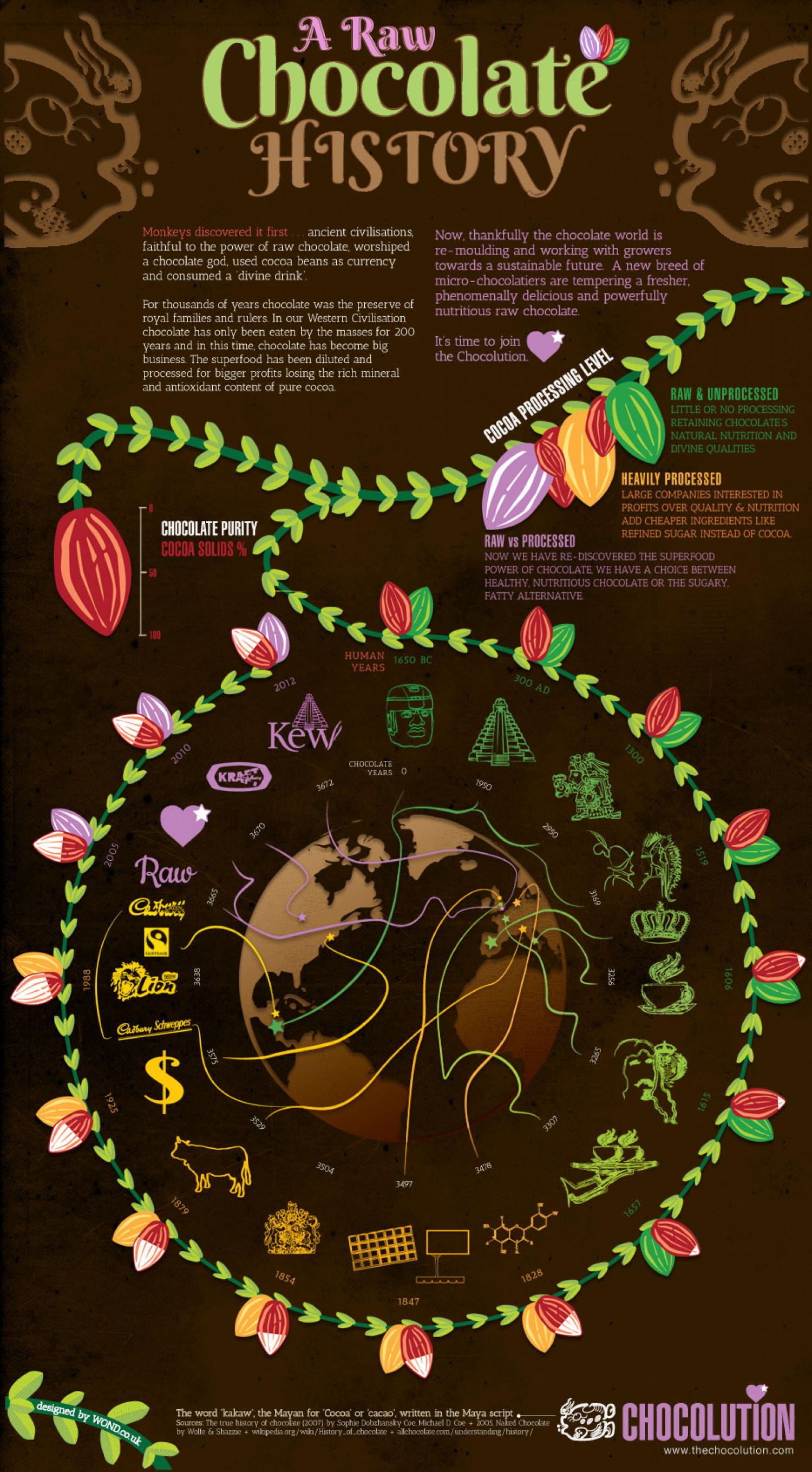 A Raw Chocolate History Infographic