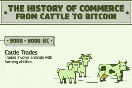 History of Commerce: From Cattle to Bitcoin Infographic