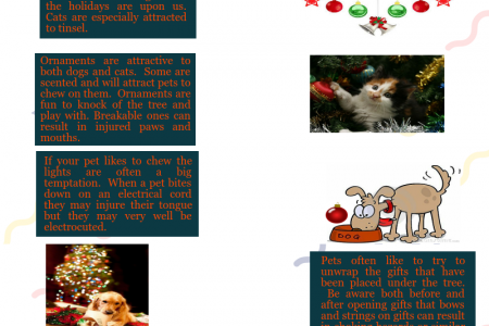 Holiday Delights Can Be Health Hazards To Our Pets Infographic