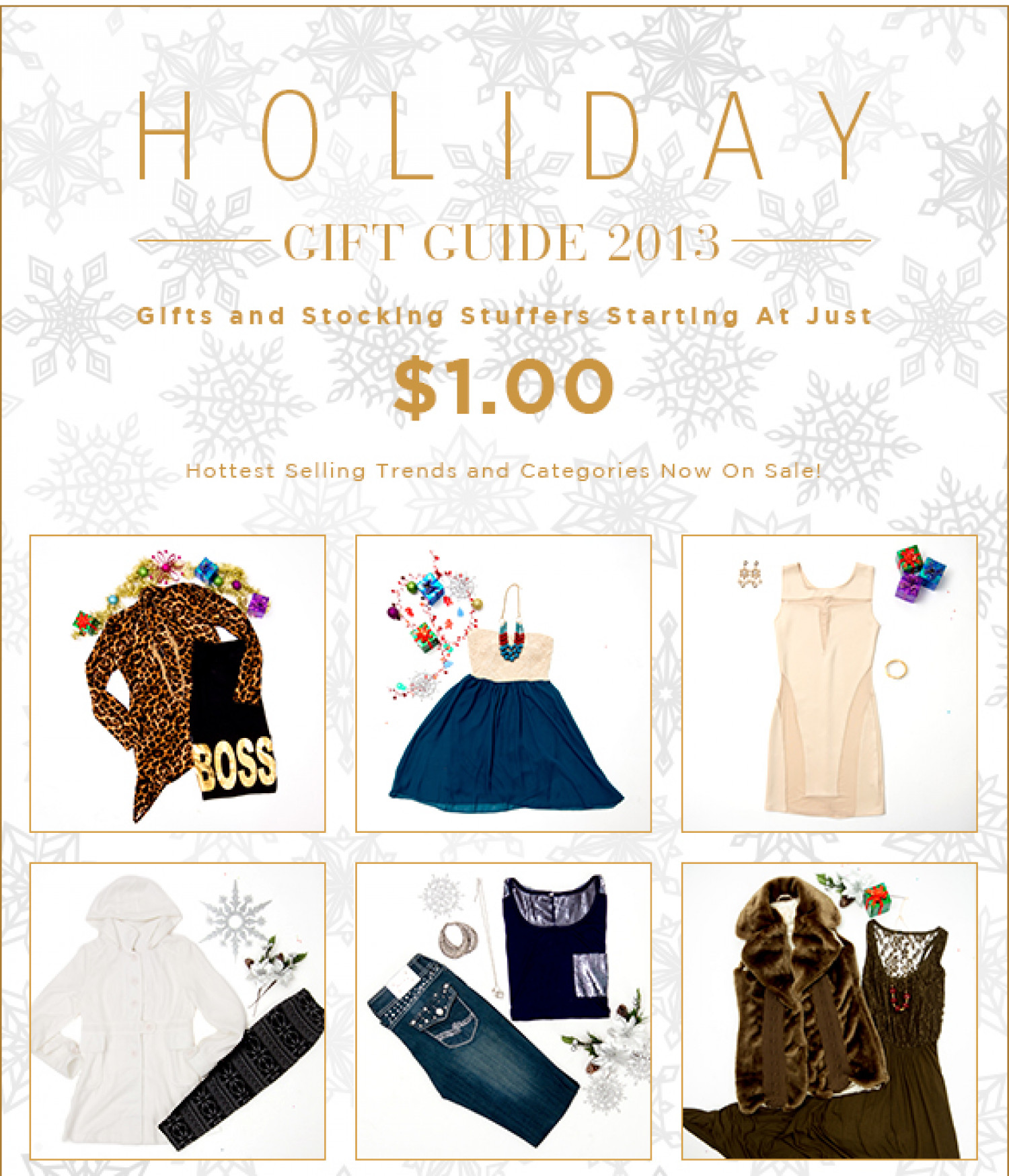 Holiday Gift Guide, $40 Off, Plus Outerwear Sale!! Infographic