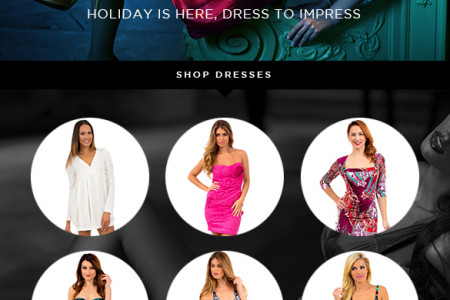 Holiday is Here, Dress To Impress Infographic