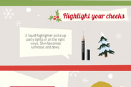 Holiday Makeup Tips and Tricks Infographic