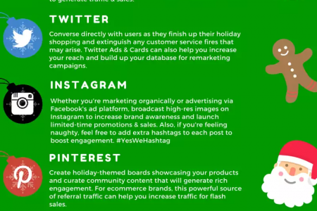Holiday Season Guide To Social Media Marketing Infographic
