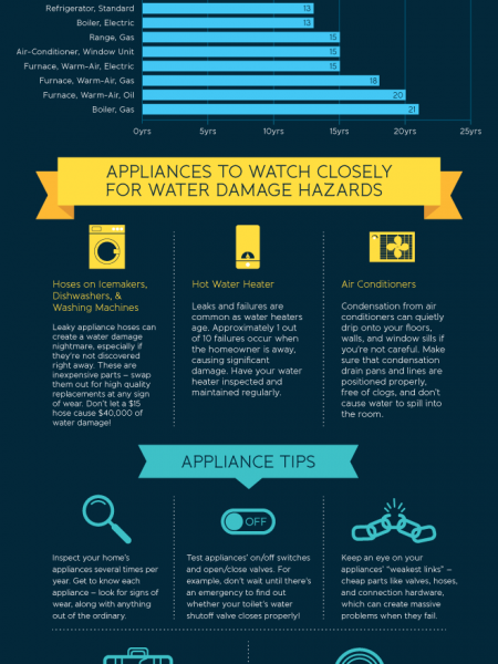 Home Appliance Lifespans Infographic