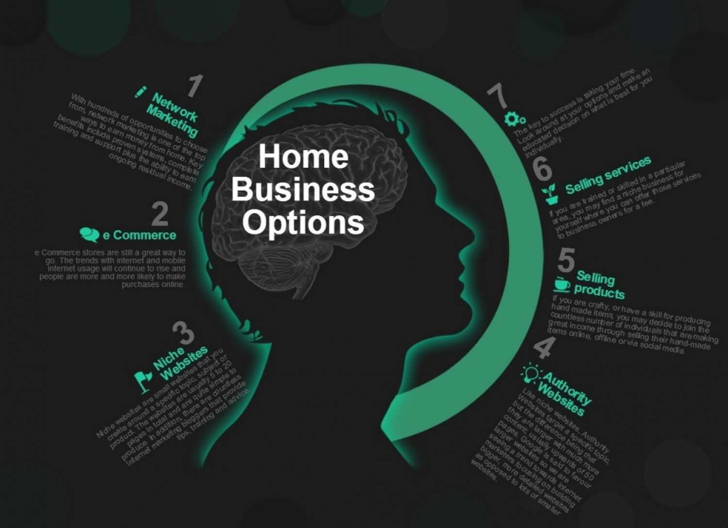 Home Based Business Opportunities Infographic