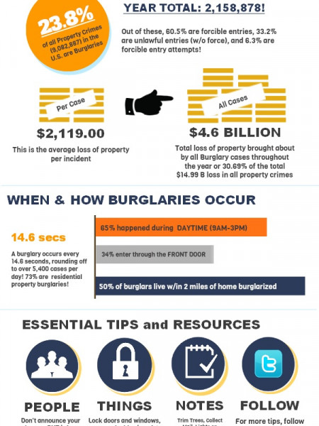 Home Burglary 101 (America) Infographic