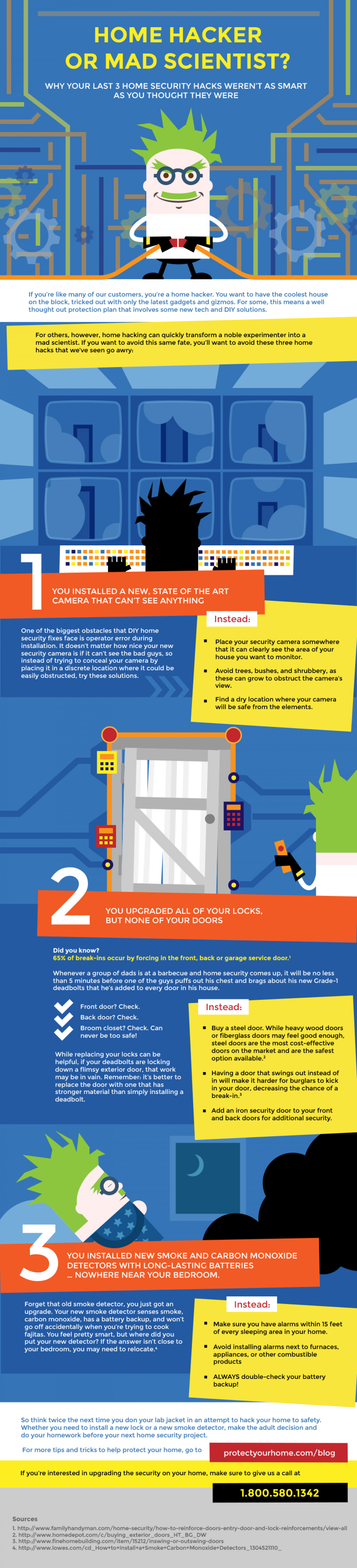 Home Hacker or Mad Scientist? Why Your Last 3 Home Security Hacks Weren't as Smart as You Thought They Were Infographic
