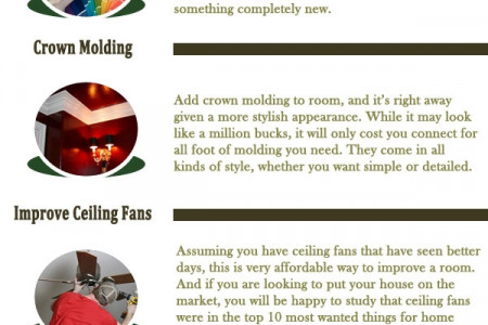 Home Improvement Ideas for financial wise - Jeff Adams Tips Infographic