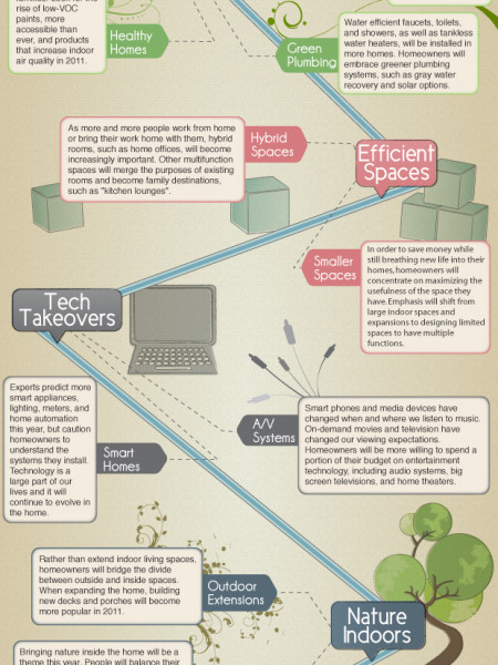 Home improvement Trends 2011  Infographic