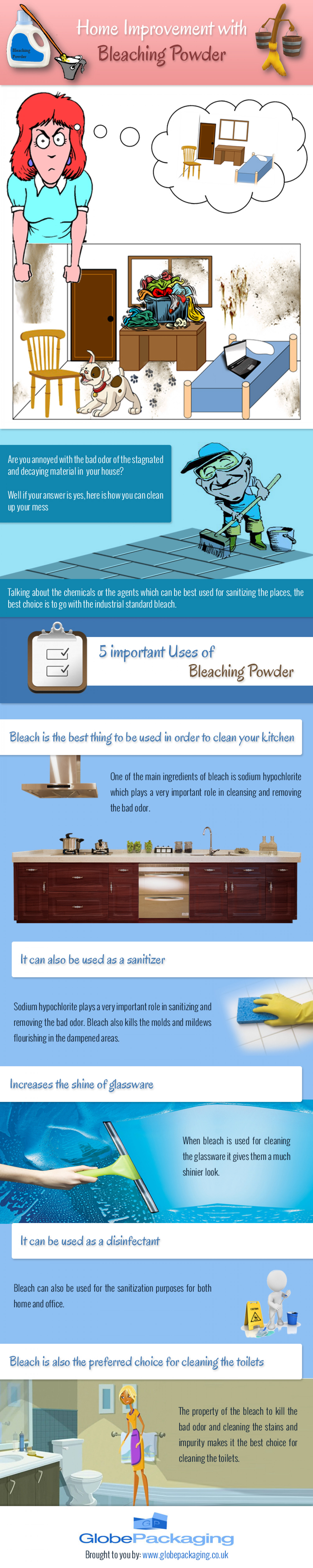 Home Improvement with Bleaching Powder Infographic
