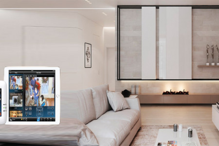 Home networking, remote control lightning and security- Home automation systems Infographic