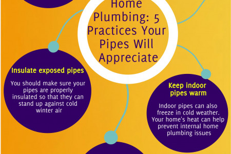 Home Plumbing: 5 Practices Your Pipes Will Appreciate Infographic