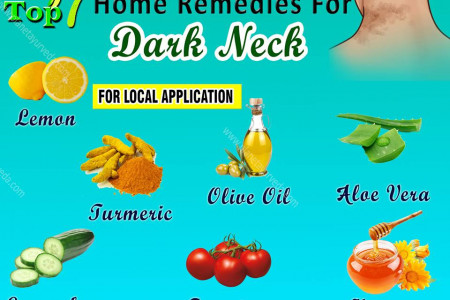 Home Remedies for Dark Neck - Top 7 Home Remedies Infographic