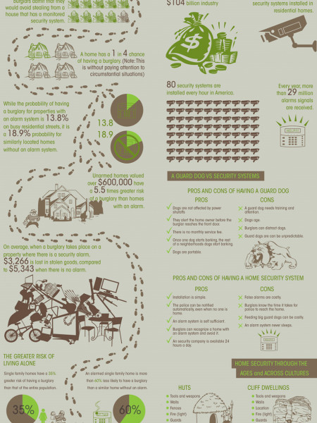 Home Securities and Crime Rates Infographic