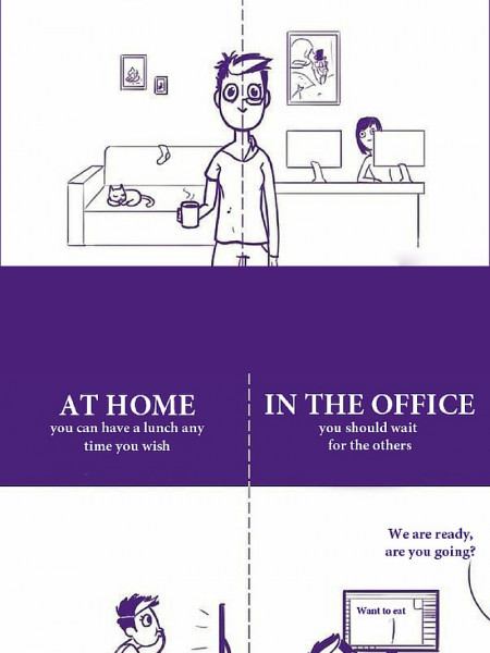 Home vs Office Infographic