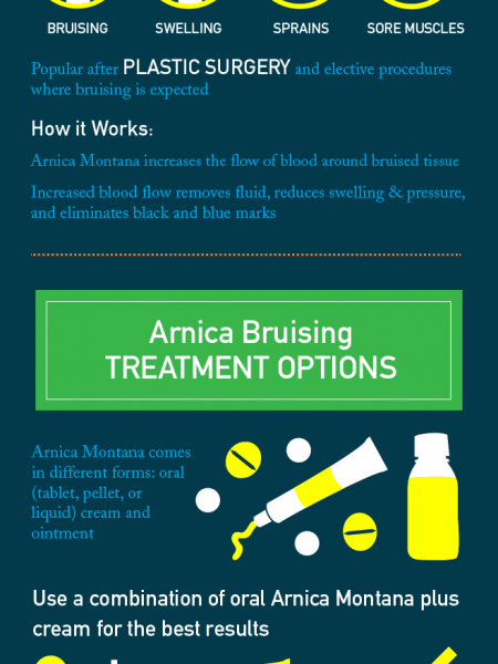 Homeopathic Arnica Montana: A Natural Bruise Treatment Infographic