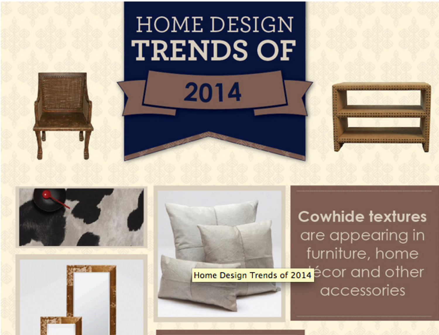 Hone Design Trends of 2014 Infographic