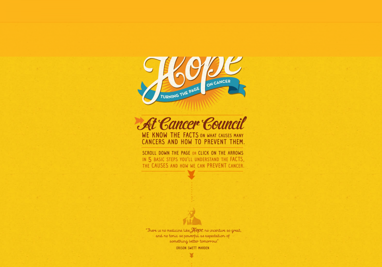 Hope - Turning The Page On Cancer Infographic