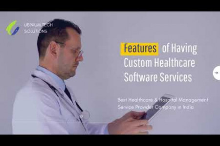 Hospital Management System | Top Features of Having Custom Healthcare Software Services Infographic
