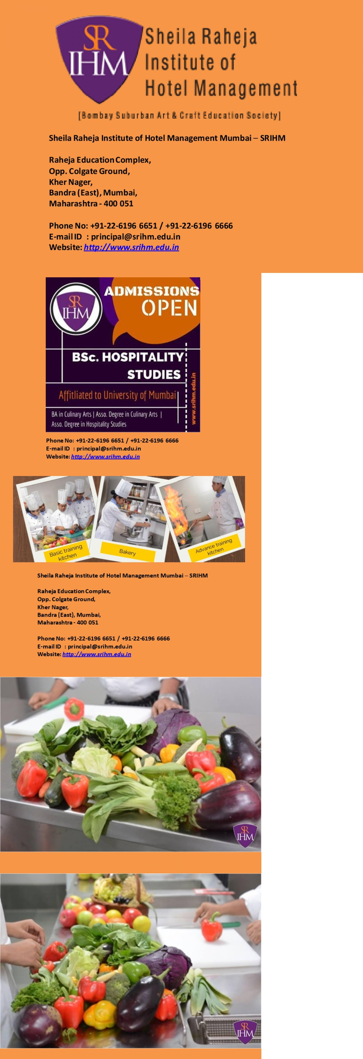 Hotel Management Colleges in Mumbai Infographic