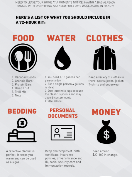 72-Hour Kit Essential Items Infographic Infographic