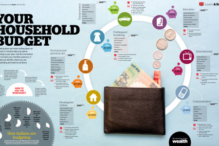 Household budget Infographic
