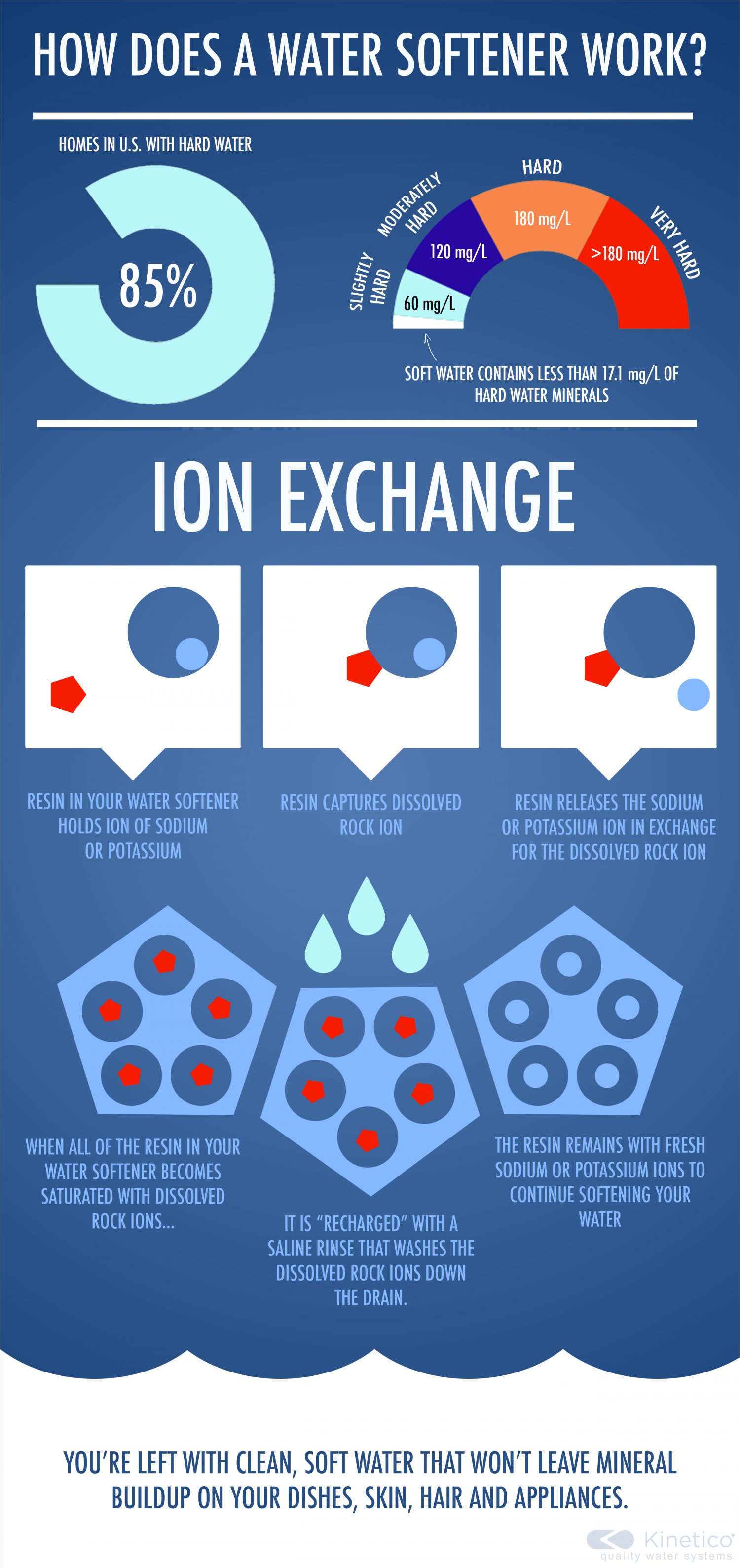How Does a Water Softener Work? Infographic